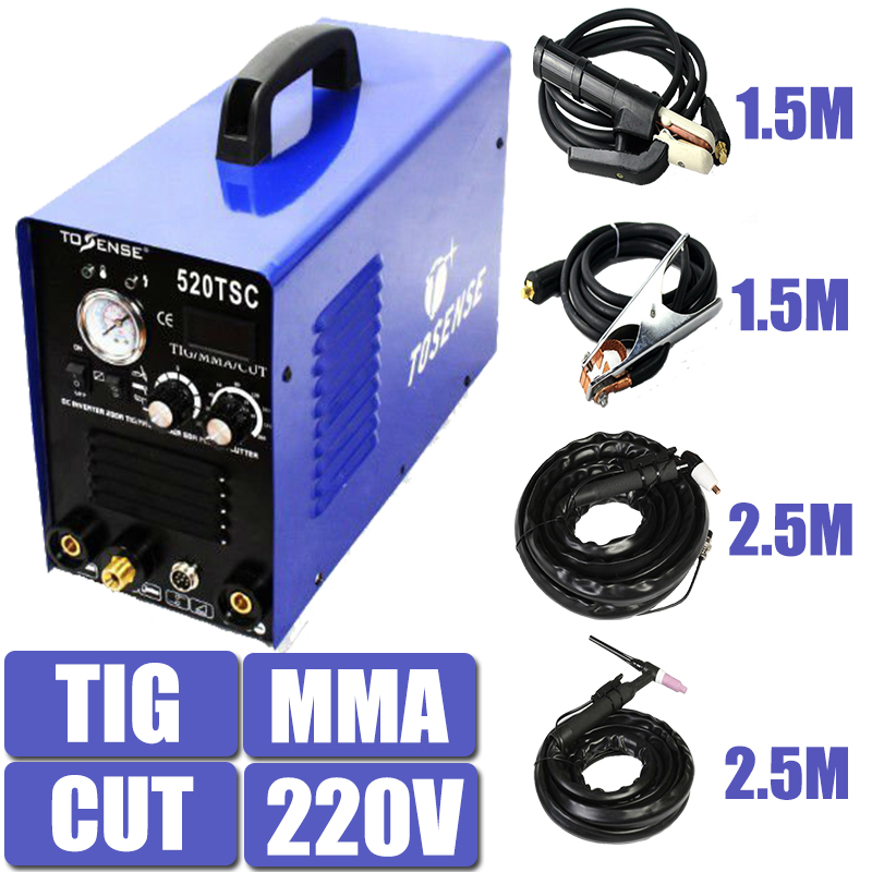 3 In 1 Multifunction Welding Machine 520TSC 220V Single Phase 200A TIG 50A CUT 200A MMA Plasma Welder Inverter DC Factory price