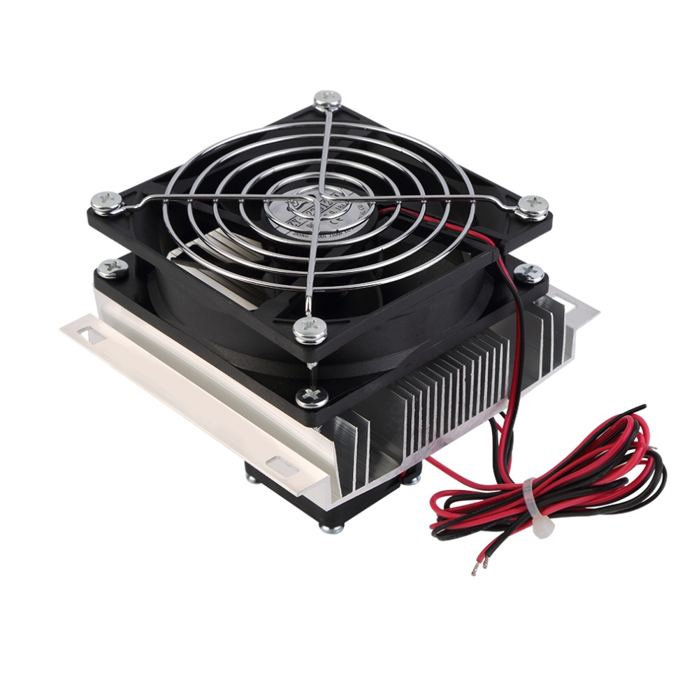 60W Thermoelectric Peltier Cooler Refrigeration Semiconductor Cooling System Kit Cooler Fan Finished Set Computer Components