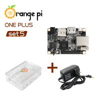 Orange Pi One Plus SET5: OPI One Plus &  ABS Transparent Case  & DC Power Adapter