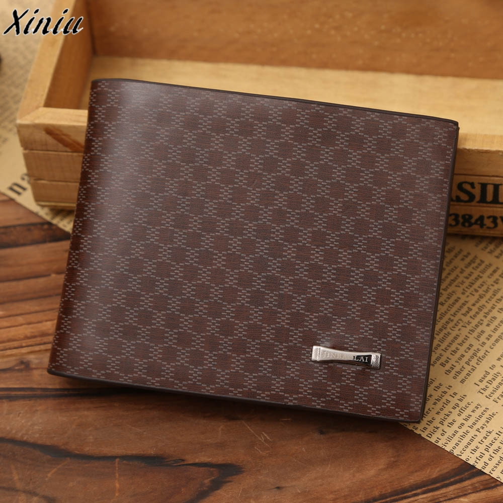 Men Designer Wallet Crocodile Pattern Vintage Small Purse Slim Leather Business Style Wallets billetera hombre *7627