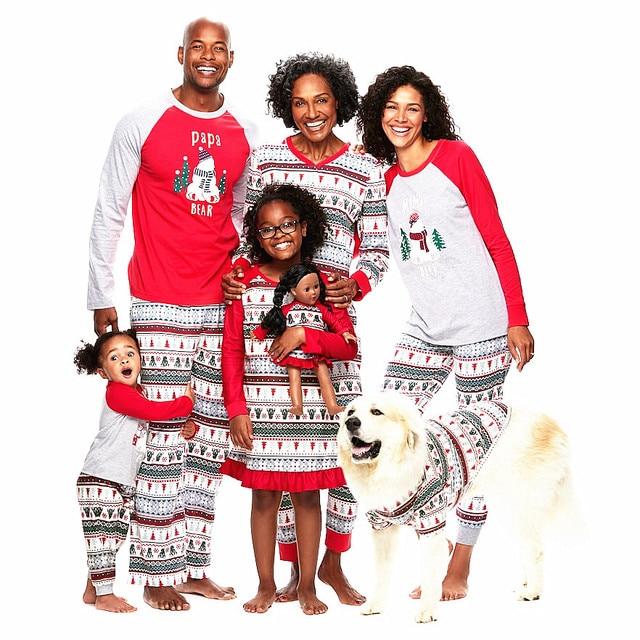 29a9684567 Family Christmas Pajamas Set Xmas Parent-child Printed Red Nightwear Pjs Set  Adult Kids Baby Long Sleeve Sleepwear Pyjamas Set