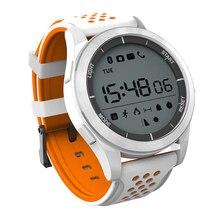 KKTICK F3 Smart Watch Bracelet IP68 waterproof Smartwatch Outdoor Mode Fitness Tracker Reminder Wearable Device White & orange