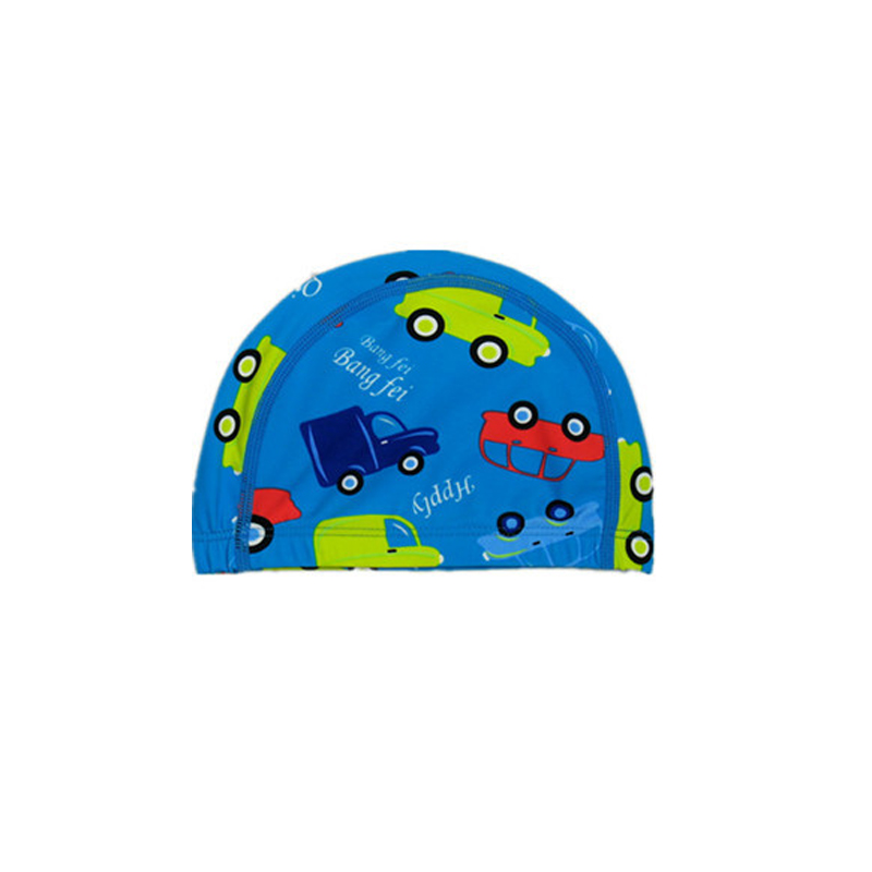 Waterproof Printing Children Swimming Cute Cartoon Boys and Girls Swimming Cap To Protect The Ear High Elastic Swimsuit Cap