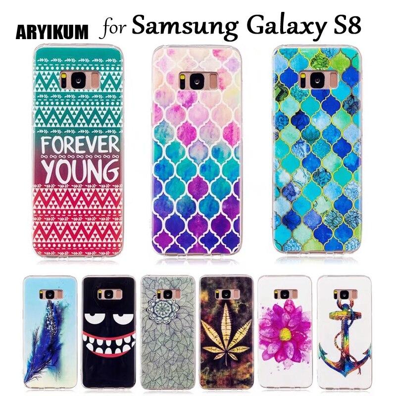 Aryikum животного бампер чехол для Samsung Galaxy S8 черный мягкий силиконовый смартфон Интимные аксессуары чехол для Sansung S8 Coque ETUI