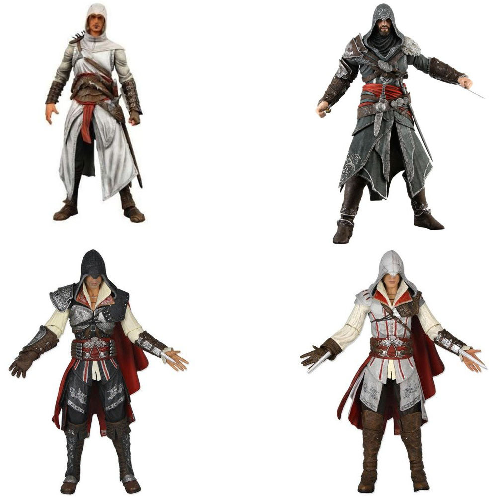 Neca 7 Assassins Creed Altair Ezio Action Figure PVC Doll Model Collectible Toy Gift
