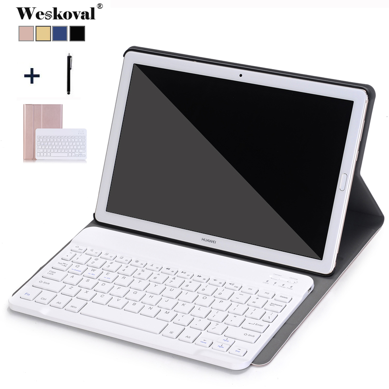 Bluetooth Keyboard Case for Huawei MediaPad M5 10.8 CMR-W09 AL09 Removable Leather Funda For Huawei M5 Pro 10.8 CMR-W19 Cover