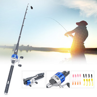 Y4523 1.5m Collapsible Foldable Telescopic Fishing Rod Bait Fishing Reel Set Fishing Lure Rod Combo Spinning Fishing Rod