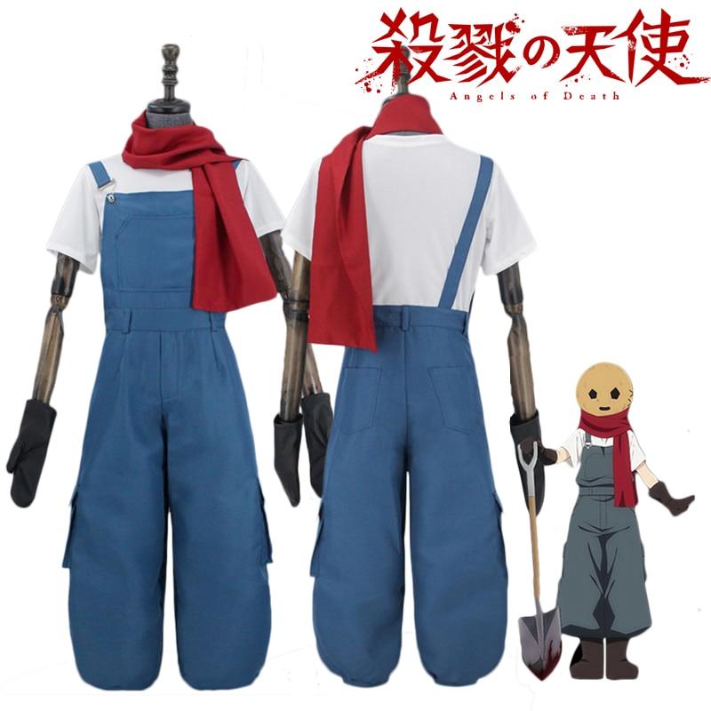 Anime Angels Of Death Edward Mason Cosplay Costume Satsuriku no Tenshi Eddie Short Sleeve Shirt Suspender