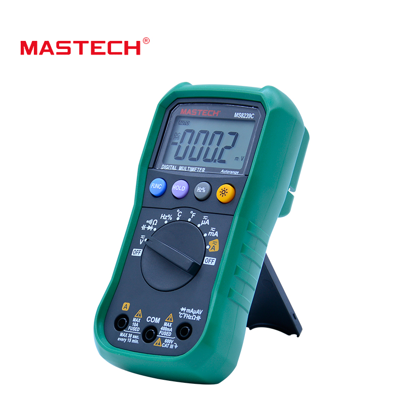 MasTech MS8239C Auto range multimeter 3 3/4 AC DC digital multitester Voltage Current Capacitance Frequency multimetro Tester