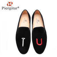 2017 New style Personalized embroidery women handmade loafers Euro style women smoking slippers party and wedding women's flats