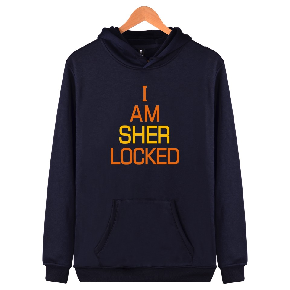 BBC TV Sherlock Printing Harajuku Men Sweatshirt And Autumn Style Hooded New Arrived Sher Locked Plus Size Men Clothes With Cap