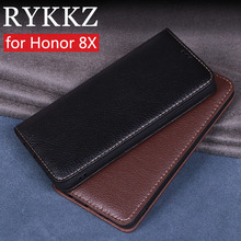 RYKKZ Luxury Leather Flip Cover For Huawei Honor 8X Mobile Stand Case 8x Max Phone