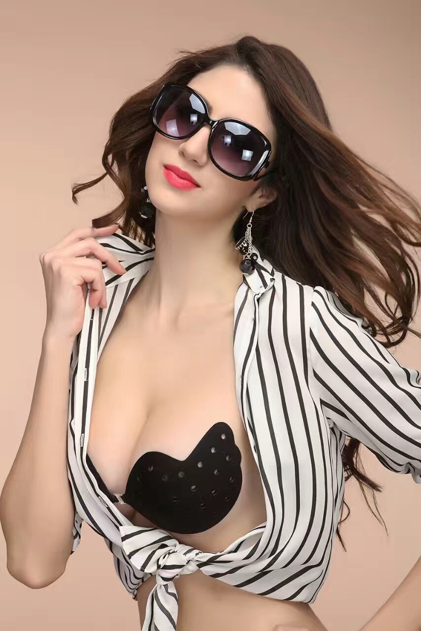 Fashion Fly Bra Push Up LIFT Self-Adhesive Silicone Strapless Invisible Bra With Breathable Holes