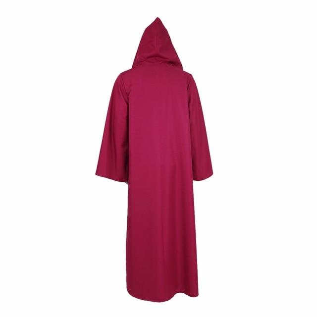 Star Wars Robe Halloween Cloak Hoodie Cape Obi-Wan Kenobi Jedi Cosplay Costume Red Blue White Mantle Clothing