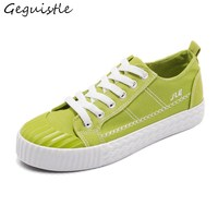 Women Casual Flat Shoes Lace Up Shells Head Trendy All Match Canvas Shoes Students Fashion Shoes