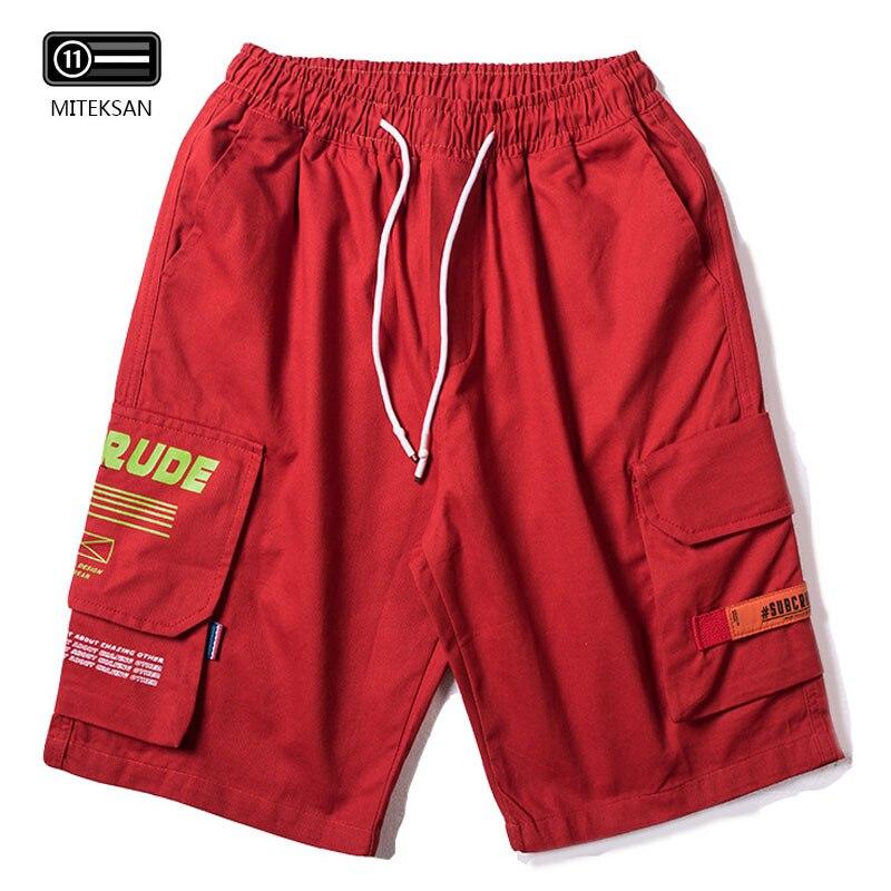 Haut street cargo shorts hommes genou longueur fitness sweat shorts survêtement taille élastique homme poche latérale pantalon court