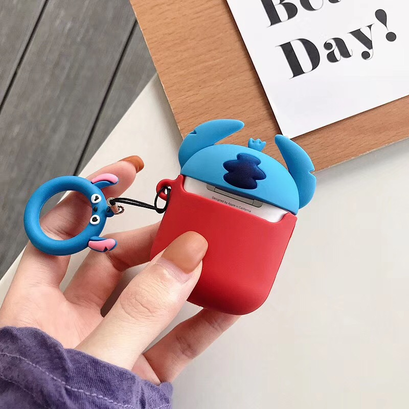 Image 5 - Bluetooth Earphone Case for Airpods Protective Cover Bag Anti lost Strap Cute Cartoon Silicone Charging box case Accessories-in Earphone Accessories from Consumer Electronics