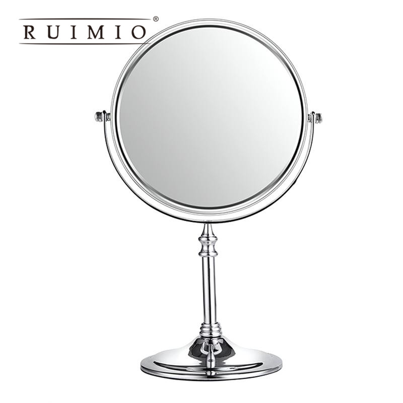 3x Magnifying Round Mirror Double Sided Free Standing Table-Top Makeup Mirror for Detailed Makeup Magnifying Mirror For Bathroom nyx professional makeup двустороннее зеркало dual sided compact mirror 03