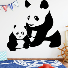 Panda Family Wall Sticker Wall Decal Sticker Home Decor DIY Removable Art Vinyl Mural for Bedroom Kids Room Wall Art Decal road wall decal highway vinyl sticker street wall art kids racing road bedroom living roon home decoration removable diy ww 182