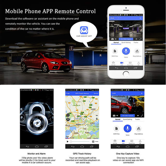 US $181 1 |ANSTAR 4G WIFI Mini Car DVR Camera Android 5 1 ADAS dual lens  video Recorder Night Vision Remote Monitor Dash cam 1080PRegistrar-in