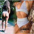 Summer Sexy Body Suit For Women Crop Top Two Pieces Outfits Sleeveless Bodycon Women Set Backless Suit
