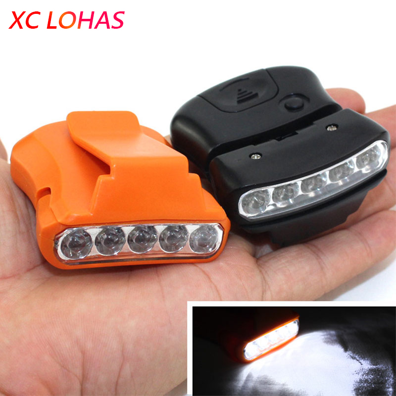 New 5 led clip cap lamp with battery angle adjustable for Ice fishing battery box