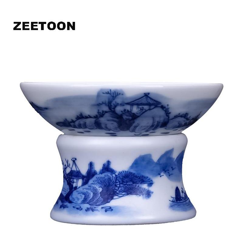 Boutique Jingdezhen bleu et blanc porcelaine paysage thé crépine chine Kung Fu thé ensemble thé filtre Kung Fu thé Set accessoires