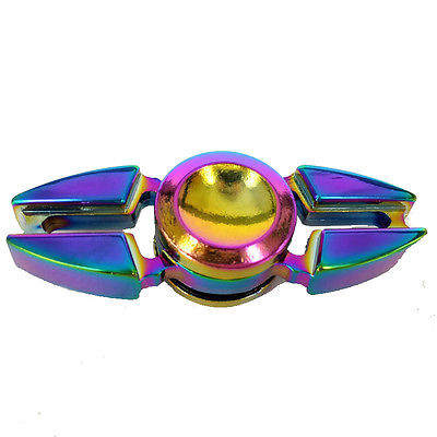 Cool Rainbow Fidget Hand Finger Spinner Focus Bearing Toys Kids Adult Anti Stress