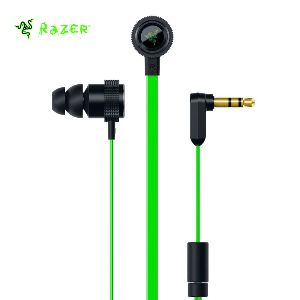 лучшая цена Original Razer Hammerhead V2 Earphones 3.5mm plug with Flat Style Cables 10mm Drivers Wired Earphone Stereo Earphone