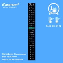 Homebrew Thermometer for Beer or Wine, 4-28 degree in Celsius and Fahrenheit scale, 1,000pcs/lot, Free Shipping by DHL