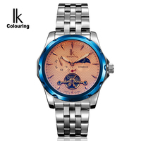 Hot Sale Ik Colouring Automatic Watch Stainless Steel Color Change Mirror Moon And Stars Mechanical Montre