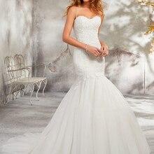 Mermaid Wedding Dresses Sleeveless Bride Dress Court Train