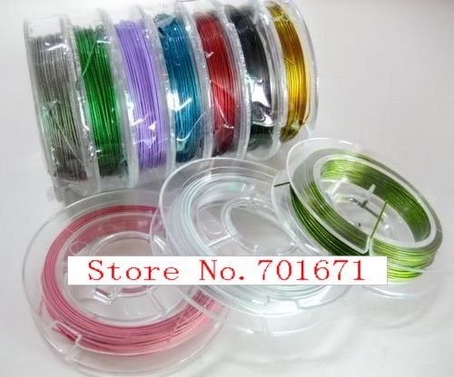 Hot Sale! 0.3/0.38MM 10M/Pcs Mix Color Metal Steel Wires Beading ...