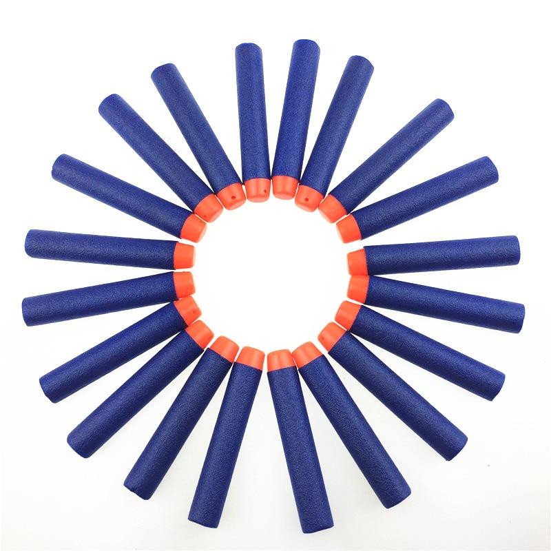 20PCS For Gun Bullets Hollow Hole Head 7.2cm Refill Darts Toy Gun Bullets Soft Bullet Gun Xmas Kid Children Gift