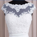 2016 White Hot Sales White Tulle with Appliques Tank Bridal Wedding Bolero Bridal Jacket Wedding Lace Shrug