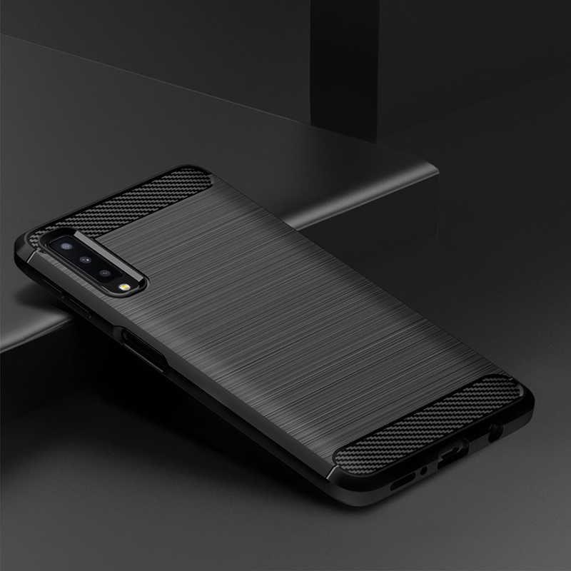 size 40 49da7 b0fed For Samsung Galaxy A7 2018 Case Silicone Rugged Armor Soft Back Cover Case  For Samsung A7 2018 A750 Phone Fundas Coque Cases