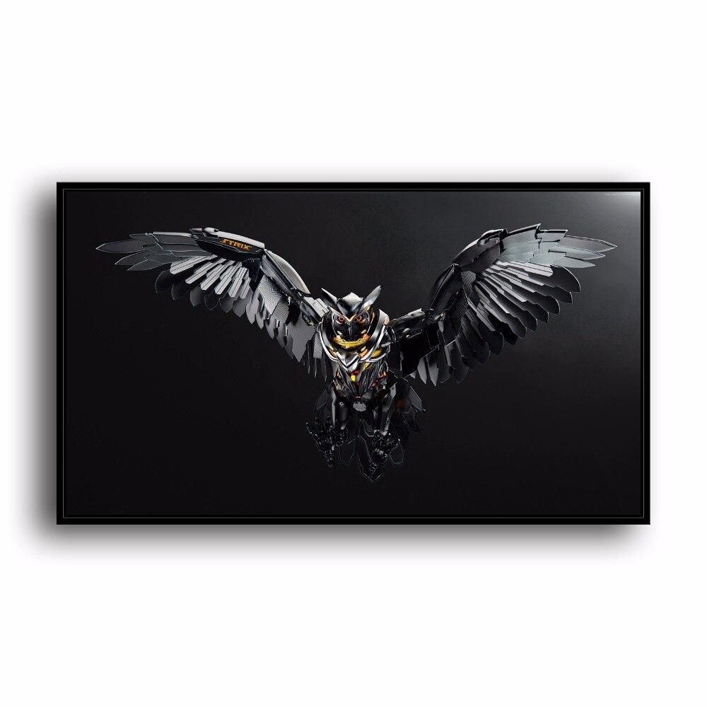 SR100334 Machine Owl Natural Scenery Animal. HD Canvas