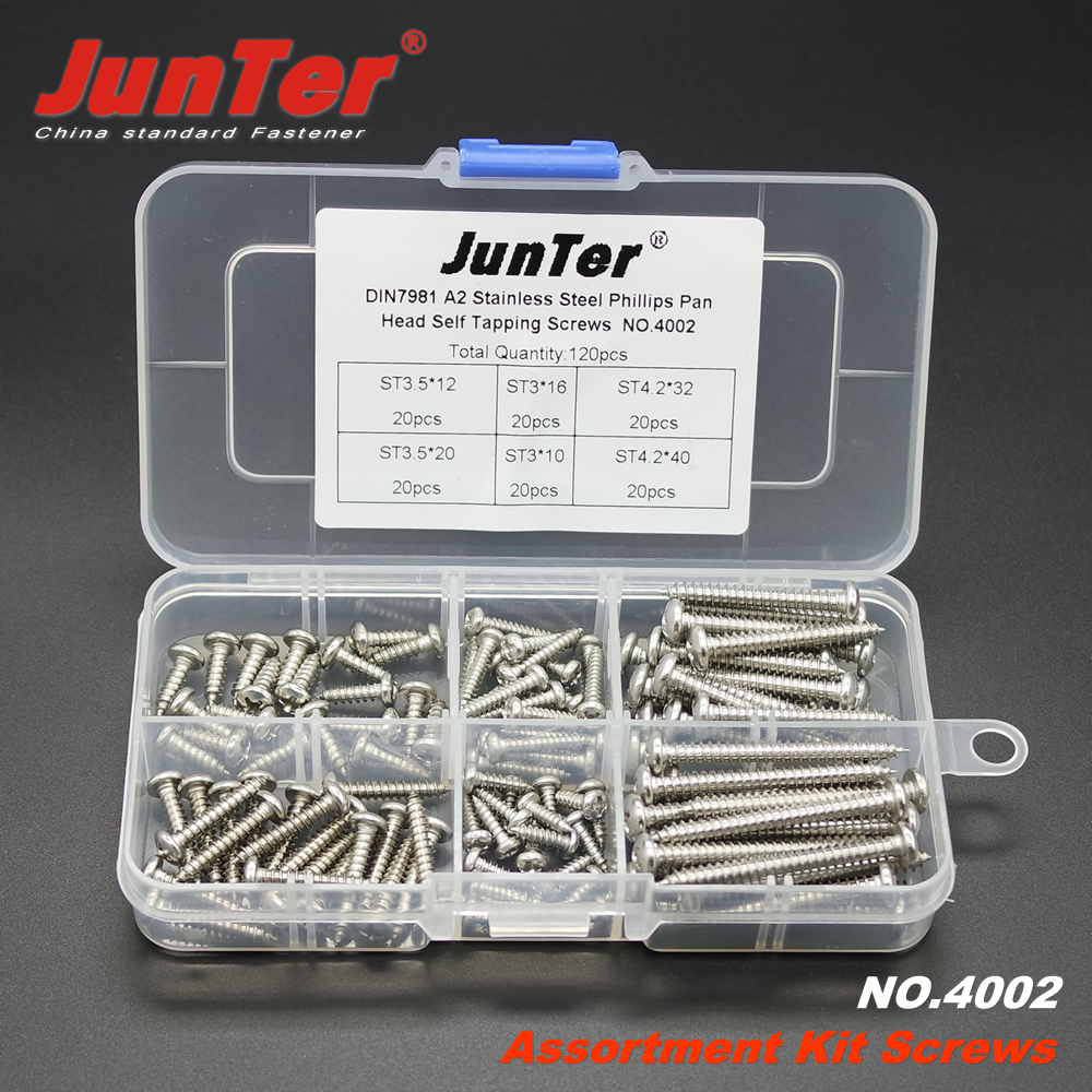 270pcs A2 Stainless Steel Phillips Pan Head Self Tapping Screws NO.4003
