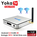 DDR4 S912 Amlogic Cuadro de TV Android 6.0 3 GB 32 GB ROM Octa core 4 K Antena wifi h.265 hd smart tv box bt 4.0 1000 m lan pk x96 mi caja