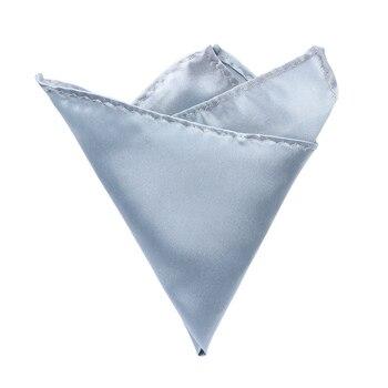 1Pc Handkerchiefs For Suit Men Silk Satin Pocket Square Hankerchief Hanky Plain Solid Color Wedding Party Accessories 10 colors
