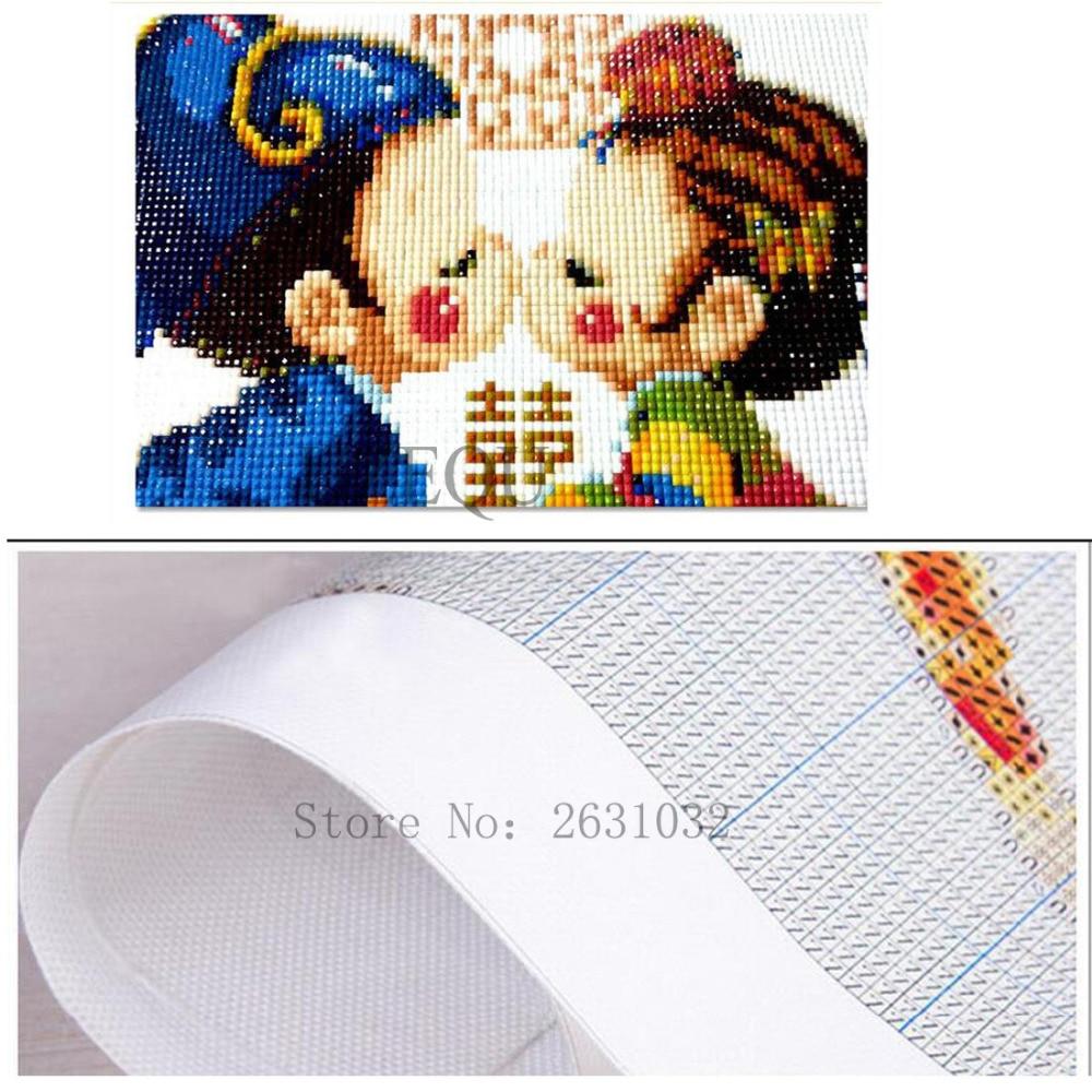 UzeQu 5D DIY Diamond Embroidery Full Square Diamond Painting Cross - Արվեստ, արհեստ և կարի - Լուսանկար 4