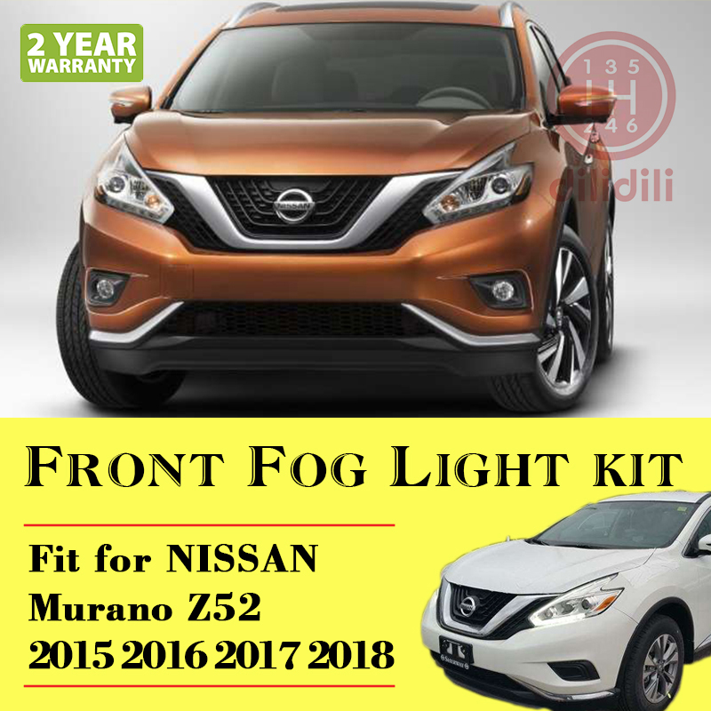 Fog Light Lamp Kit for Nissan Murano  Z52 2015-  With Auto 2pc abs after the triangle decorate for nissan murano 2015