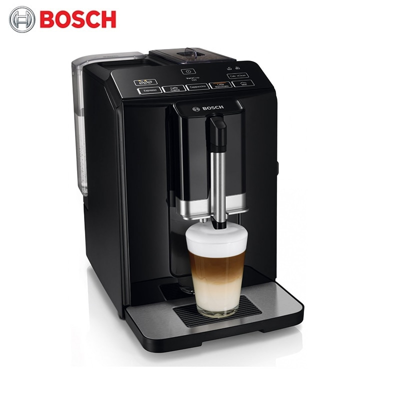 Coffee machine Bosch VeroCup 100 TIS30129RW TIS 30129 RW automatic grain relogio strap black and coffee genuine leather alligator crocodile grain watch band
