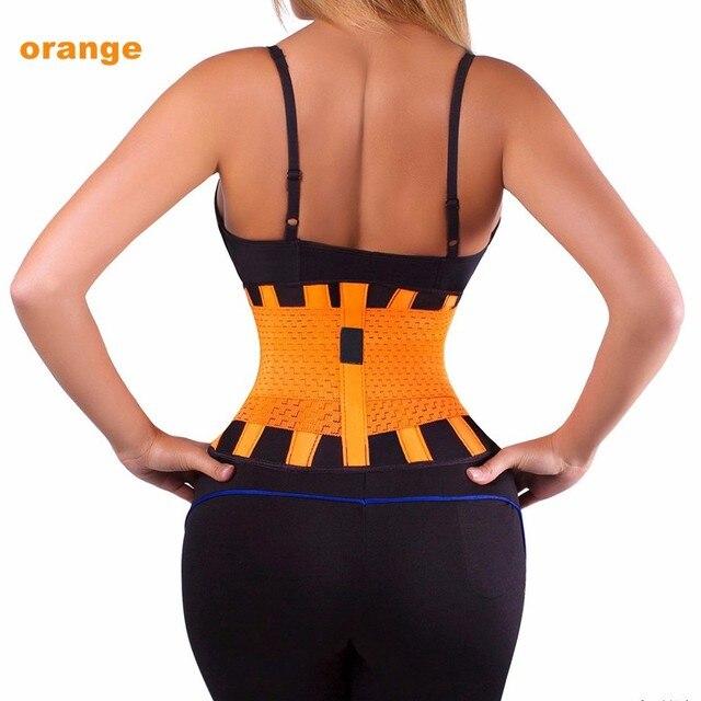 Ayuda de la cintura de la aptitud ajustable mujeres hombres deportes cintura trainer entrenamiento xtreme power cinturón ahsper orange