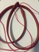 26mm x 10 M 800 W 220 V Hoge kwaliteit Elektrische verwarming Siliconen Verwarming Pijpleiding tracing belt Silicone Rubber pijp Heater waterdicht