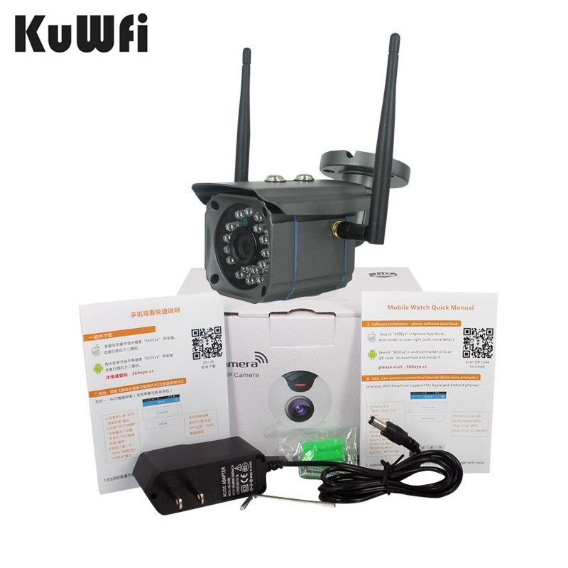 US Store Wireless WiFi HD 720P IP Camera Network Onvif Outdoor Surveillance Security Night Vision waterproof Home Security CCTV hd 720p 1 0mp wireless wifi micro sd card ip camera waterproof network onvif outdoor surveillance security 36 ir night vision