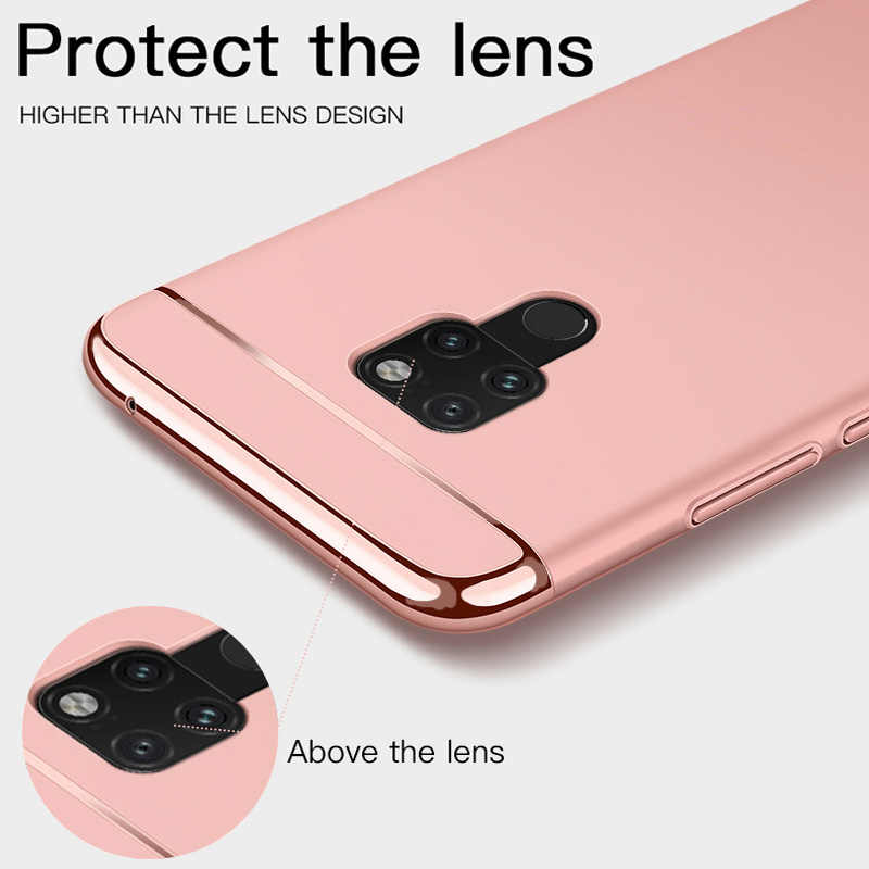 Luxury 360 Plating Phone Case For Huawei P20 P10 Lite P9 Plus PC Matte Hard Cover For For Huawei Mate 20 Lite P20 Pro Case Capa