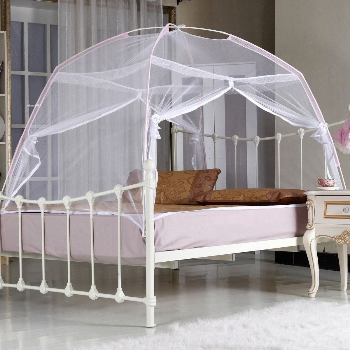 2016 Summer Portable Folding Mesh Insect Bed Mongolian Yurt Canopy Curtain Dome Tent Mosquito Net Tent For Boy Girl Bedding-in Mosquito Net from Home ... & 2016 Summer Portable Folding Mesh Insect Bed Mongolian Yurt Canopy ...