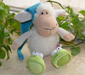 NICI 25cm Sleeping Cap Sheep Plush Toy for Cute Baby/ Kids Gift, Plush Doll Free Shipping