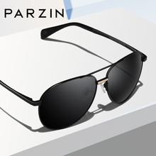 PARZIN Polarzied Sunglasses Men Women Brand Designer Unisex Pilot Alloy Frame Mirror Lens Driving Male Sun Glasses